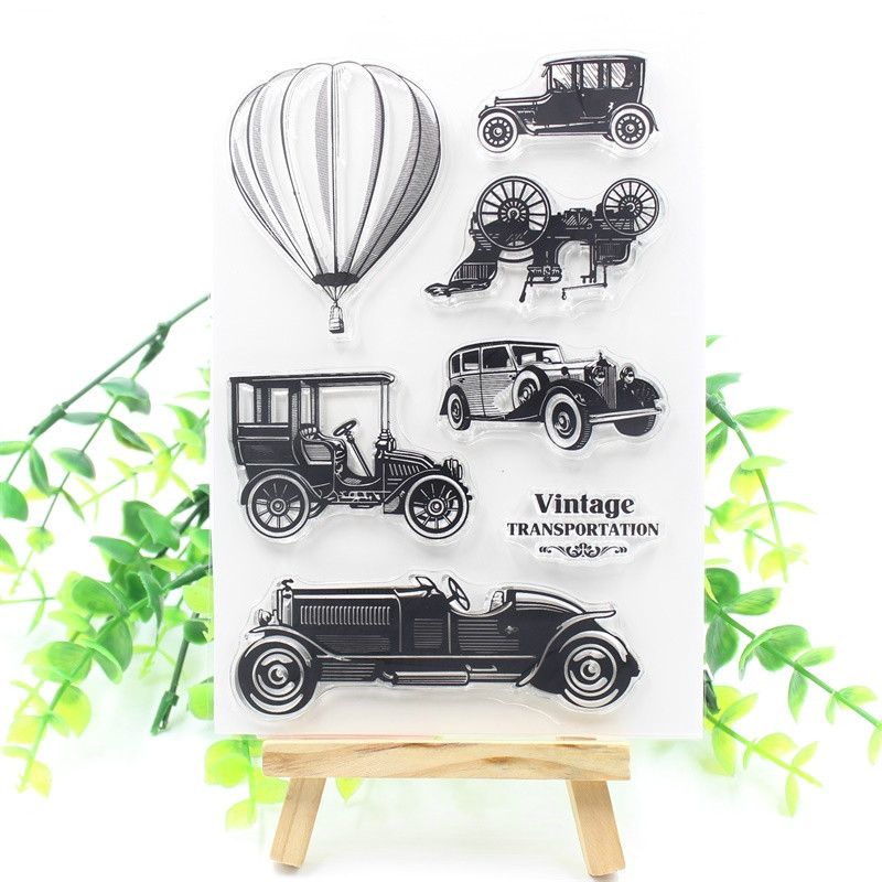 Vintage Cars Transparent Clear Silicone Stamps for DIY ScrapbookingCard MakingKids Fun Decoration Supply M19