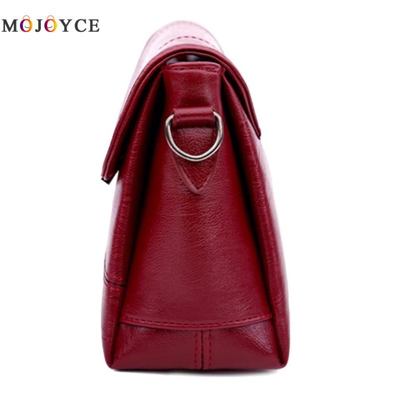 Retro PU Leather Women Shoulder Bags Luxury Brand Flap Messenger Bag Elegant Office Ladies Handbag Bolsa Feminina 4