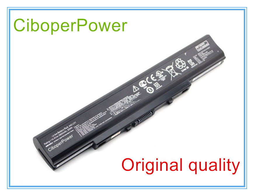 цены Original A42-U31 A32-U31 Battery For U31 Series,U41 Series,P41 Series,P31 Series Laptop, 14.4V 5800mAh 83Wh New