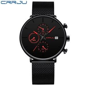 Image 5 - CRRJU Men Watch Reloj Hombre 2019 Mens Watches Top Brand Luxury Quartz Watch Big Dial Sport Waterproof Relogio Masculino Saat