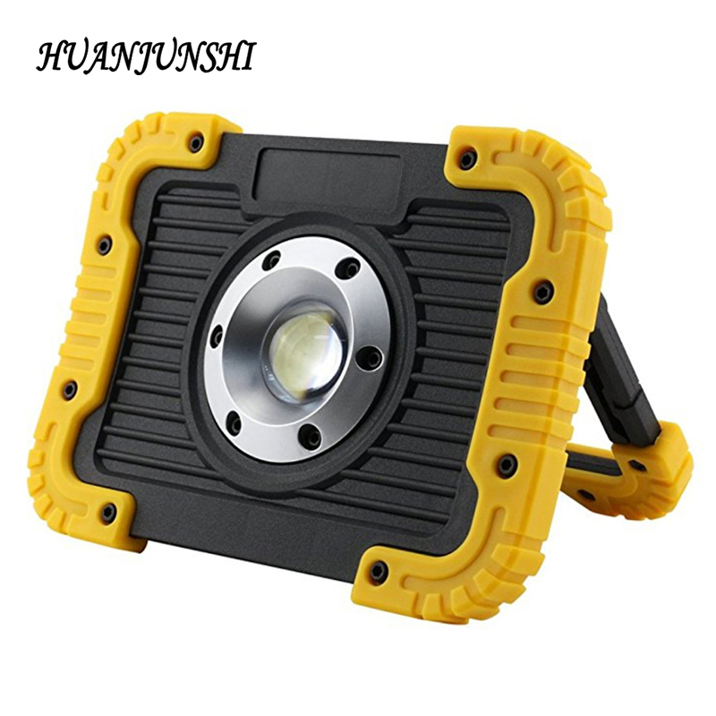 NEW 10W Rechargeable COB LED Working Light Floodlight Outdoor Portable Camping Lamp Spotlight 4400mAH USB Charging