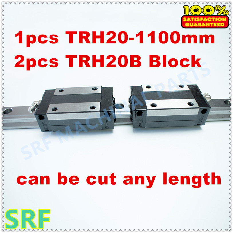 High Precision 1pcs Linear guide 20mm TRH20  L=1100mm Linear Rail+2pcs TRH20B linear carriage block for  CNC X Y Z  Axis tbi 2pcs trh20 1000mm linear guide rail 4pcs trh20fe linear block for cnc