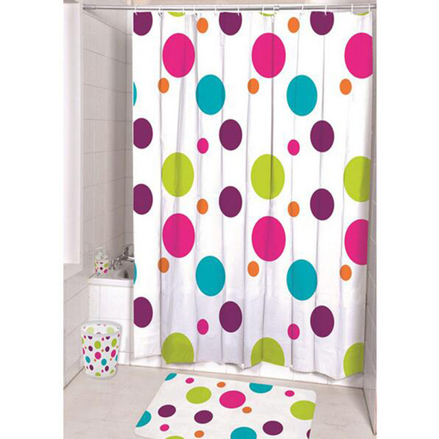 New Arrival Colorful Circles Shower Curtains Waterproof Polyester ...