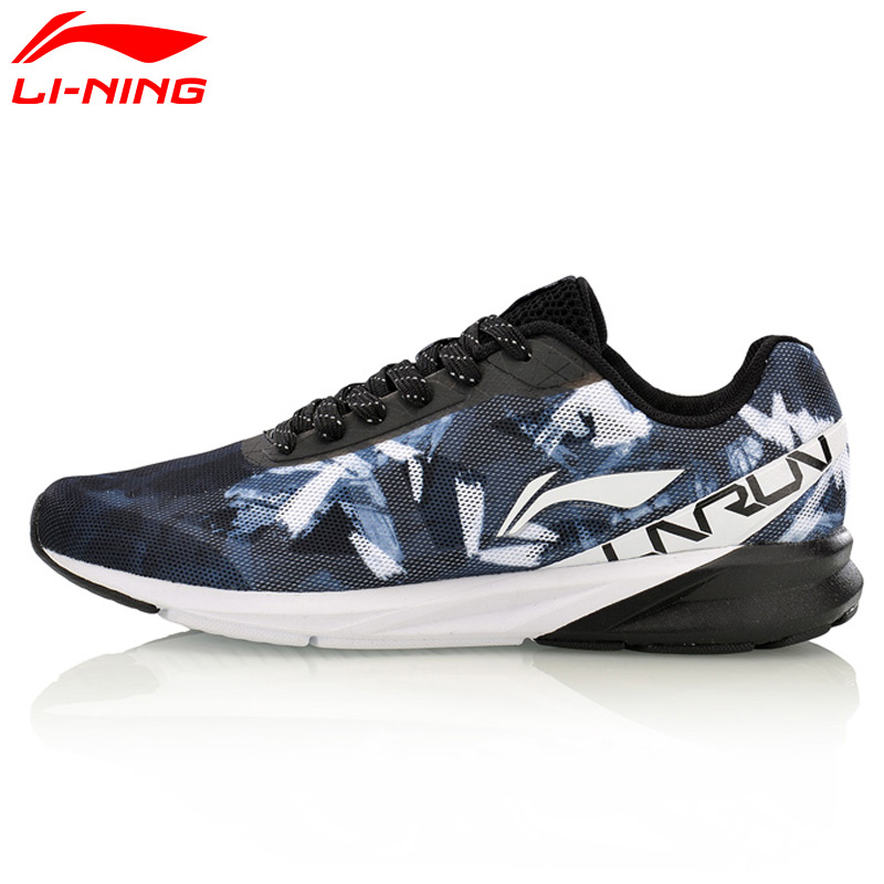 Li-Ning Homens Colorido Forro Cushion Running Shoes Respirável Wearable Sports Shoes Sneakers ARHM039 XYP567