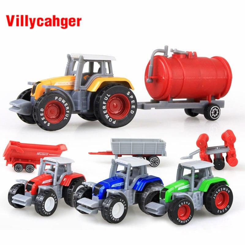 Mini Diecast Car Farm Truck Construction Vehicle Mixer Truck Model Metal Truck Classic Toys Kids Gift Educational Toys For Kids