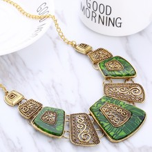 Women's Elegant Ethnic Style Statement Necklace