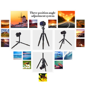 Image 5 - Walkingway الألومنيوم بروتابلي Q666 المهنية السفر كاميرا ترايبود Monopod الكرة رئيس و حامل هاتف ل DSLR الهاتف الذكي فيديو