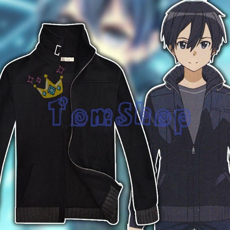 Japonais Anime SAO épée Art en ligne Kirito Kirigaya Kazuto Cosplay Costume manteau veste épais hiver chaud chandail Sweatshirts