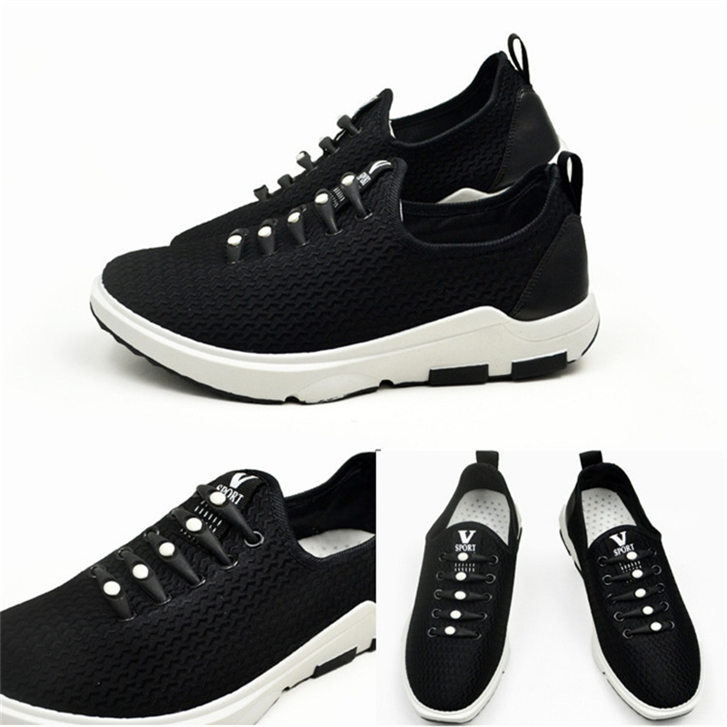 12pcs lot No Tie Black Round Creative No Tie Shoelaces Elastic Silicone Shoe Lace in Shoelaces from Shoes