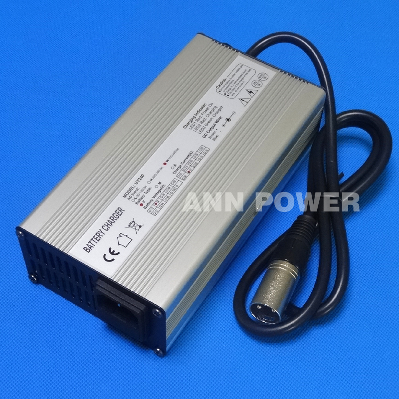 Free Shipping 24V 7A Smart Charger for 24V7A Li-ion Battery Ouput 29.4V 7A lithium battery Aluminum case charger