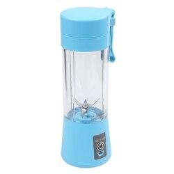 Najlepsza sprzedaż sokowirówka z pojemnikiem  mobilny mikser do soków  domowy mikser owocowy-sześć ostrzy  400ml maszyna do mieszania owoców z ładowarką USB