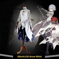 2017 New Game SINoALICE Snow White Cosplay Costumes Lolita Women Fancy Halloween Party Dress Full set
