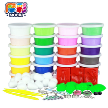24 Colors Air Dry Jumpimg Colored Clay Cold Porcelain Play Dough Playdough Doh Children Foam Clay Kids Intelligent Plasticine(China (Mainland))