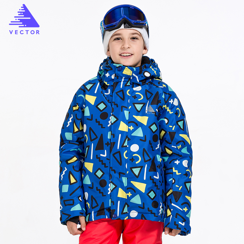 VECTOR Brand Children Ski Jacket Boys Warm Winter Skiing Snowboard Jackets Child Windproof Waterproof Outdoor Snow Coats Kids 2017 hot sale gsou snow high quality womens skiing coats 10k waterproof snowboard clothes winter snow jackets outdoor costume