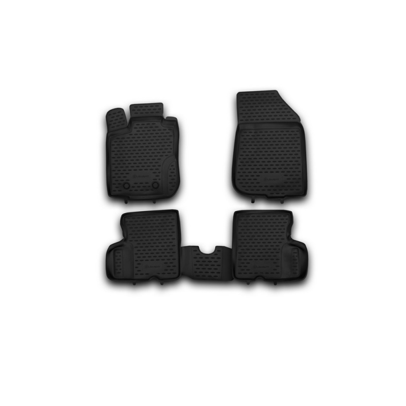 Carpet mats interior For RENAULT Duster 4WD, 2011-2015, 4 PCs (polyurethane)
