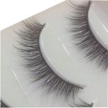 HBZGTLAD 5 Pairs 3D Handmade Fake Eyelashes Natural Long Thick Daily Makeup Thick Cross Eyelashes Eye Lashes 1