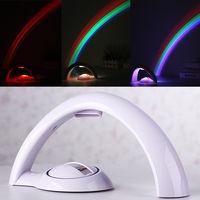 Home Decoration Lucky Rainbow Light Amazing Rainbow Projector 3D LED Lamp Baby Room Night Light Atmosphere