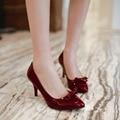 Plus size 34-48 women pumps pointed toe high heels shoes women low heel wedding shoes red stiletto heels women black pumps