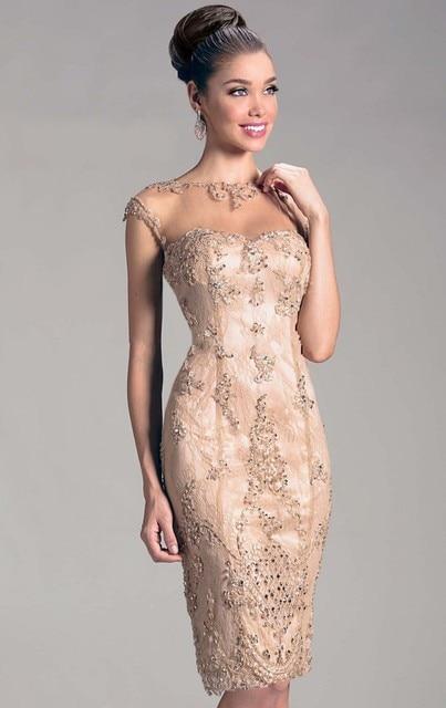 5cef0bf34 Vestidos de coctel elegantes 2015 de la nueva llegada vestidos formales de  moda con cuentas scoop
