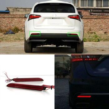 LED Rear Bumper Reflector Fog Brake Turn Indicator Lights For Lexus NX 2014-2018
