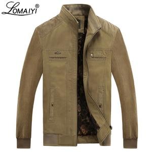 Image 3 - Куртка LOMAIYI Мужская зимняя, жакет из чистого хлопка, с воротником стойкой, флисовая подкладка, повседневная верхняя одежда, BM290