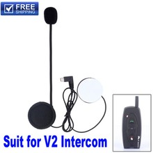 2016 New V2 Microphone Stereo Speaker Accessories Suit for V2 Bluetooth Intercom Motorcycle Accessories Free Shipping!