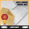 """16 """"x 40"""" 40 см х 100 см Теплоизоляция контроль шума анти-шума Мат Sound Control корректуры Алюминиевая подложка Deadener Мертвящей PAD"""
