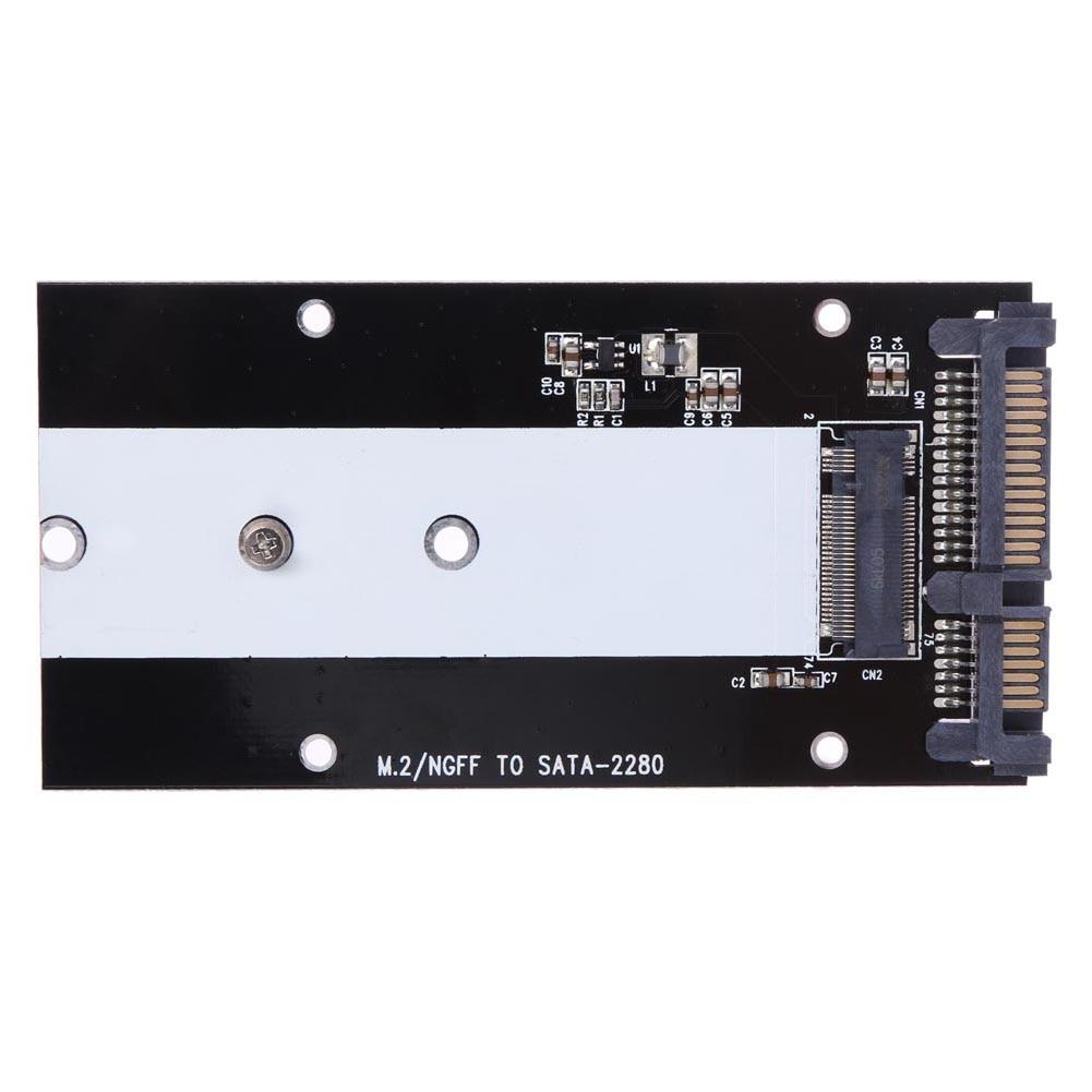 ALLOYSEED B Key M.2 NGFF SSD to 2.5inch SATA Converter Adapter Card 2230 2242 2260 2280 m.2 ngff SSD шасси orient uhd 2m2c12 для ssd m 2 ngff для установки в sata отсек оптического привода ноутбука 12 7 мм 30347