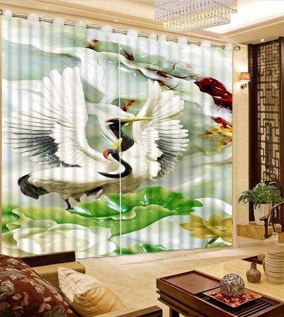 Chinesische Vorhänge Jade Tier Fotodruck Blackout Vorhänge Für Wohnzimmer  Schlafzimmer 3D Vorhang Moderne Wohnkultur Vorhänge