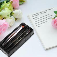 SEt: 1PC Natural Curler Thick Makeup Mascara+2pc Double Color Eye Brow Pencil Cosmetics Makeup Set Tool