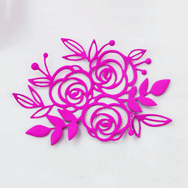 Beautiful flower&leaf Pattern Metal Cutting Dies Decorative ...