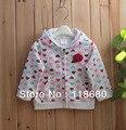Envío libre Al Por Menor nuevo 2014 otoño primavera ropa niños hoodies Ropa de Abrigo chaqueta de las muchachas de bebé amor impreso capa de la Rebeca