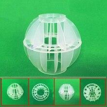 1500 יח\חבילה ביו מסנן כדורי Polyhedral חלול כדור ירוק מתקן טיפול בשפכים CO2 הסרת ביוכימיים כדור מסנן מדיה