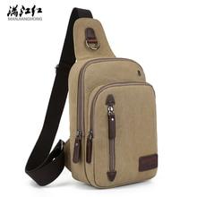 ФОТО chest package men canvas oblique satchel on leisure tra nsport retro men's bags one shoulder bag, fashion bag