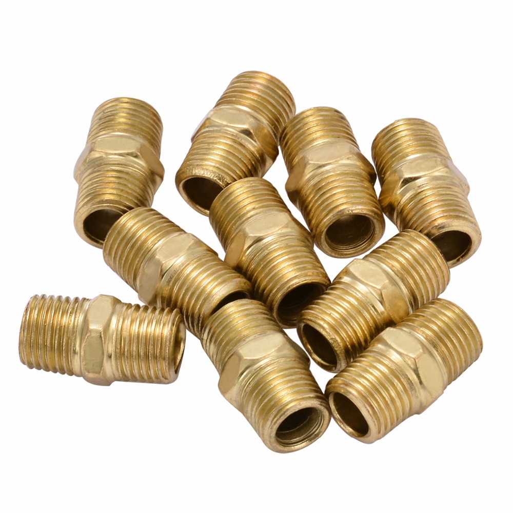 10pcs New Gold Air Line Hose Connector Euro Fitting Quick Release Set with 1/4 BSP Male Thread Mayitr 10pcs new gold air line hose connector euro fitting quick release set with 1 4 bsp male thread mayitr