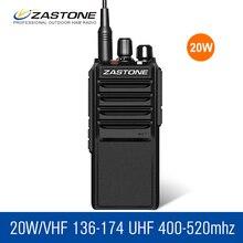Zastone Talkie Walkie 20 km ZT-L2000 20 W De Poche Longue Portée 2 Voies Radio UHF 400-480 MHz Police équipement Jambon Radio HF Émetteur-Récepteur