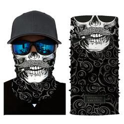 Модные 3D череп Магия Хэллоуин маска Для мужчин цифровой печати солнцезащитный крем шарф маски маска для Для мужчин и Для женщин