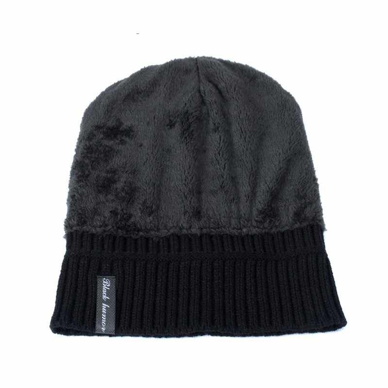2018 Mode Mannen Skullies Mutsen Gebreide Muts Winter Hoeden Voor Vrouwen Plain Warm Mannelijke Gorros Bonnet Caps Dikker Effen Mutsen