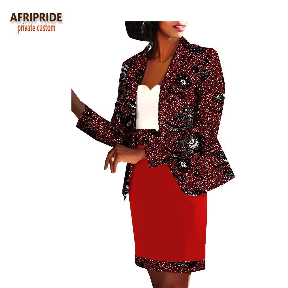 Du 162bj With Ensemble De Jupe 187j 72j Africain Printemps Top Femmes 111j Aa1826014 Set 183j Bureau Manches Et Afripride Bouton 158bj Genou Dessus Plein No Longueur Automne 2019 wp6nx4Un