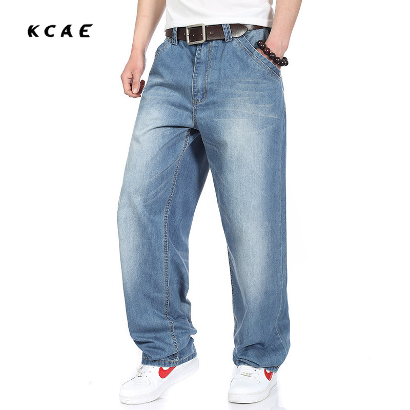 все цены на  2016 Loose hip hop jeans men printed jeans tide  men's jeans loose casual fashion breeches HIPHOP hip-hop skateboard  онлайн