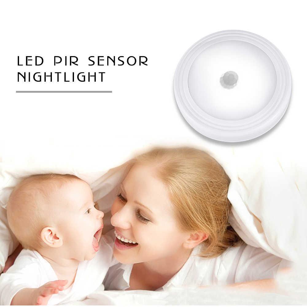 Умная Ночная Подсветка лампа движения PIR сенсор luces диоды питающиеся от батареек Детские спальные дома WC спальня туалет шкаф кухня огни