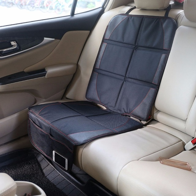 123*48cm Oxford bawełna luksusowy skórzany pokrowiec na fotel samochodowy dziecko dziecko mata ochronna na siedzenia samochodu ulepszona ochrona fotelika samochodowego