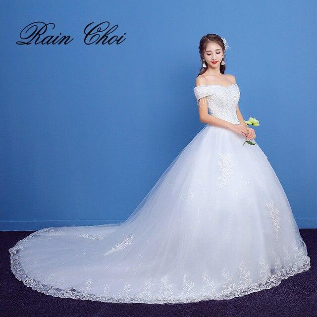 Wedding Dresses 2018 Long Train Bridal Gowns vestido de novia-in ...