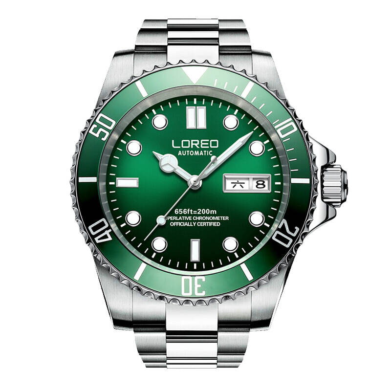 LOREO 9203 Germany watches men luxury brand automatic self-wind luminous waterproof oyster perpetual diver relogio masculino loreo 9203 germany diver 200m oyster perpetual air king automatic self wind luminous watches men luxury brand stainless steel
