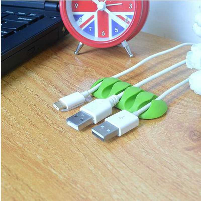 Dehyaton Cable Winder Bobbin clamp protector Earphone Ties Organizer Wire Cord Fixer Holder Collation Management organizer