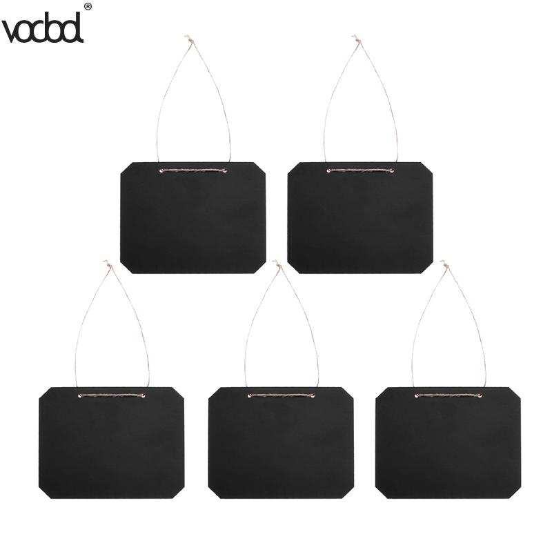 Sunny Peerless 1pc Mini Chalkboard Wooden Message Blackboard With Stand Small Black Notice Board Wedding Home Office Decor Supplies Fast Color Office & School Supplies Presentation Boards