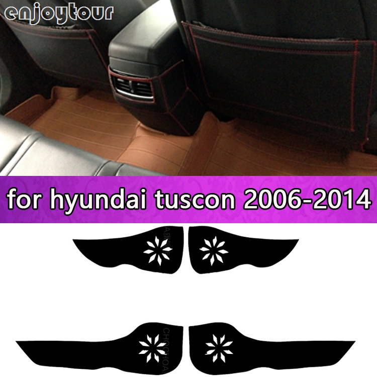 Car pads front rear door Seat Anti-kick mat Car-styling Accessories for hyundai tuscon 2006 2007 2008 2009 2010 2011 2014 ...