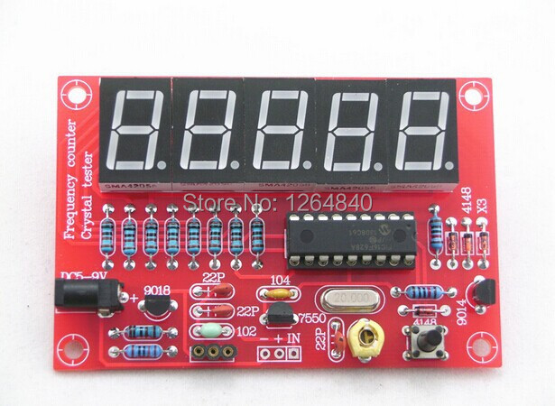 Frequency Counter Kit : Diy kits rf hz mhz crystal oscillator frequency counter