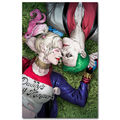 Joker Harley Quinn - Suicide Squad Superheroes Art Silk Fabric Poster Canvas Print 13x20 32x48 inch Movie Picture for Wall Decor