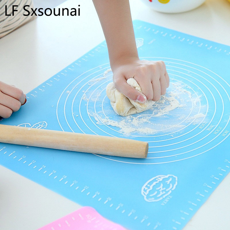 LF Sxsounai Silicone Baking Mat Pizza Dough Maker Pastry Kitchen Gadgets Cooking Tools Utensils Bakeware Kneading Accessories